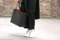 #adidas #mansur #gavriel #tote #stansmith #topshop #streetstyle #streetwear #blackoutfit #popofcolor  #destroyed #denim #kimono #wool #coat #zaraoutfit #distressed #jeans #rippedjeans #denimoutfit  http://www.thankstofashion.com/mansur-gavriel-tote/