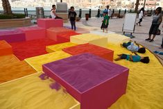 'The Dream City' by Adam Kalinowski. Art installation made with 50 tonnes of coloured sand. Via Contemporist