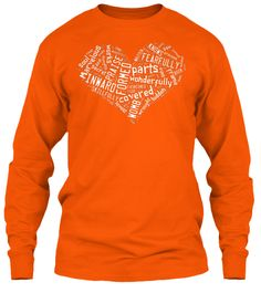 Fearfully and wonderfully made - Orange Long Sleeve T-Shirt Front