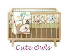 owl baby nursery bedding set woodland creatures