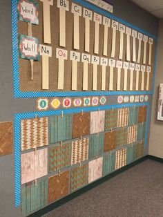 Word wall & Author's Wall in Shabby Chic