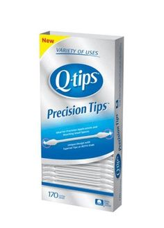 Q-Tips Precision Tips Swabs are specially designed for touch-ups and getting into small spaces. Made with tapered tips at both ends, cotton, and a gently flexible stick. Perfect for precision applications and blending your cosmetics. Cotton Swab, Cotton Pads, Manicure Tips, Manicures, Makeup Tools, Makeup Tutorials, Makeup Ideas, Beauty Care, Beauty Tips