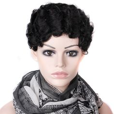 2015 Cheap Wig Women Lady'sCheap Short Black Curly Hair Wig + Wig Net Gift Heat Resistant Synthetic Hair wigs Free Shipping - http://jadeshair.com/2015-cheap-wig-women-ladyscheap-short-black-curly-hair-wig-wig-net-gift-heat-resistant-synthetic-hair-wigs-free-shipping/  Wigs