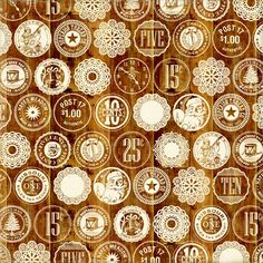 Christmas Wooden Nickels 12X12 This & That Christmas Paper by Echo Park Paper Co. - Two Peas in a Bucket
