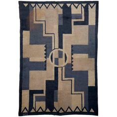 French Art Deco Rug | From a unique collection of antique and modern western european rugs at https://www.1stdibs.com/furniture/rugs-carpets/western-european-rugs/
