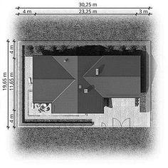 Usytuowanie projektu Winston XVII na działce Craftsman House Plans