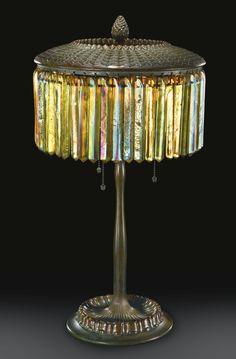 "TIFFANY STUDIOS ""PRISM"" TABLE LAMP circa 1905."