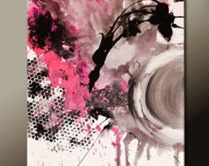 Custom Abstract Canvas Art Painting MADE TO ORDER par wostudios