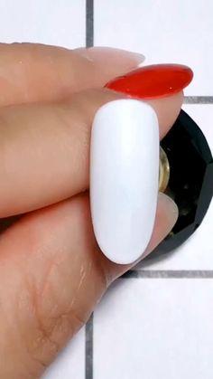 Nude Nails, White Nails, Gel Nails, Acrylic Nails, Nail Polish, Nail Art Designs Videos, Nail Art Videos, Nail Designs, Nail Art Hacks