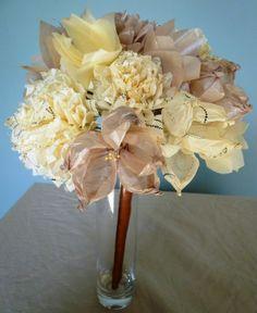 tissue paper flowers | Tissue Paper Flower Bouquet | Pretty Stuff
