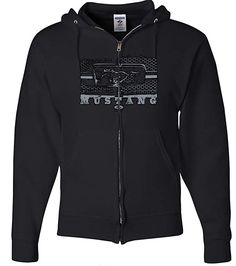 b64291021 Ford Mustang Hoodie - Legend Honeycomb Full Zip - Black Review Shopping  Products, Mustang T