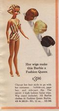 barbie with wigs, we had this- 1964