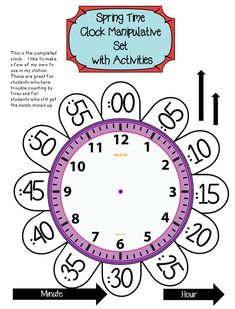 First Grade Telling Time to the Hour and Half Hour ~ Spring Forward Teaching Time, Teaching Math, Math Resources, Math Activities, Telling Time Activities, Math Classroom, Kindergarten Math, Learn To Tell Time, 2nd Grade Math Worksheets
