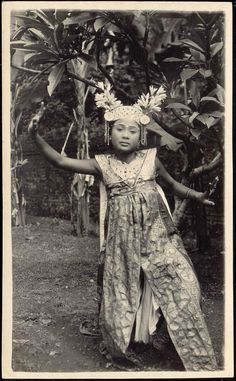 1920s Bali Indonesia » Beautiful Legong Dancer