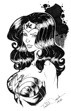 Todd Nauck - Wonder Woman, in Joel Thingvall GALLERY OF WONDER WOMAN ART's Faces of Wonder Woman Comic Art Gallery Room - 979594