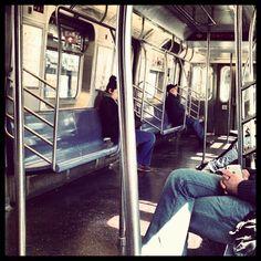 """Saturday Morning on the Q train #nyc #subway #mta"""