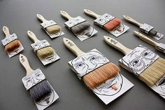 Moustache Paintbrushes