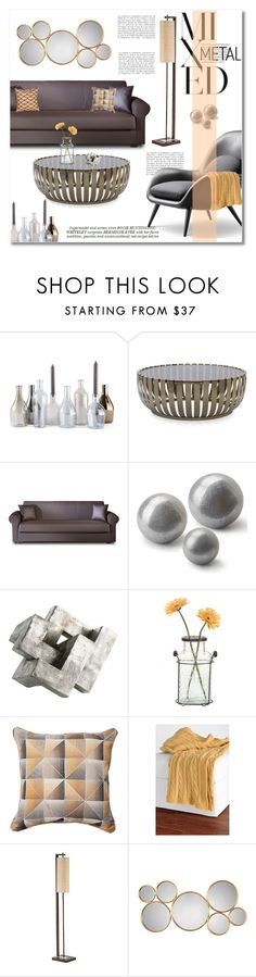 """mixed metal"" by limass ❤ liked on Polyvore featuring interior, interiors, interior design, home, home decor, interior decorating, Incipit, Whiteley, Anja and Mitchell Gold + Bob Williams"