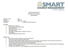 Downloadable Church Forms  Church And Volunteers