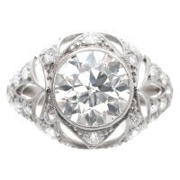 1920's Fine old European Cut Diamond Platinum ring. These old cuts are just gorgeous.