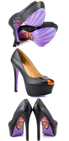 Taylor Says Monarch Butterfly Heels/ I don't wear high heels but I would TOTALLY rock these!