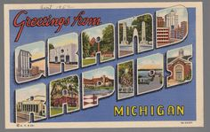 55084] OLD LARGE LETTER POSTCARD GREETINGS FROM GRAND RAPIDS, MICHIGAN, in [Collectibles, Postcards, US States, Cities & Towns   eBay