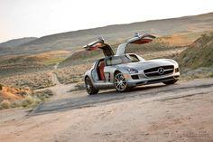 Mercedes-Benz SLS AMG Love them doors! #iconic