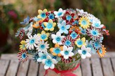 Housewarming cadeau Kerst presenteert Hostess gift bloemen middelpunt bloemen decoratie keramische bloemen vakantiegift