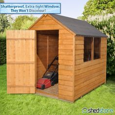 Traditional Overlap Shed, now only £186.99!!!!  - FREE dip treatment at the factory (10 year anti-rot guarantee) - Pressure treated floor joists (15 years anti-rot guarantee) - UK FREE DELIVERY* to most postcode areas
