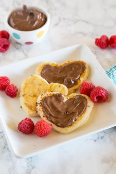 Start your Valentine's Day off right with a fun, heart-shaped breakfast. This French toast is a snap to make - Top with Chocolate and Berries for an extra special treat!