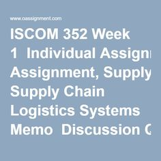 supply chain assignment questions