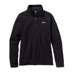 Patagonia Women\'s Better Sweater\u00AE 1\/4-Zip Fleece - Black BLK