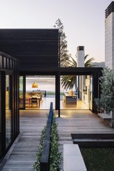The Black House Exterior Design of Pure Darkness Residential Architecture, Interior Architecture, Futuristic Architecture, Sustainable Architecture, Contemporary Architecture, Beach House Decor, Beach House Designs, Black House, Exterior Design