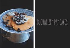 Buchweizen Pancakes mit Mohncreme - vegan und zuckerfrei! /  Buckwheat pancakes with poppy seed cream - sugarfree and vegan version