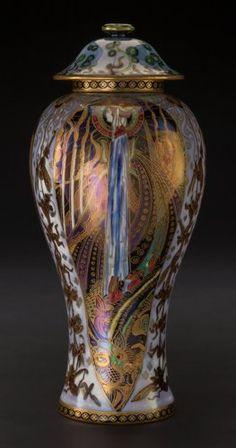 Ceramics & Porcelain, British:Modern  (1900 1949)  , A Wedgwood Fairyland Lustre Porcelain Candle...