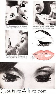 Couture Allure Vintage Fashion: DIY - 1960 Makeup Looks from Paris