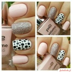 Great gallery of unique nail art designs of 2020 for any season and reason. The best images and creative ideas for your nails. Any color gamma. Hot Nails, Pink Nails, Glitter Nails, Hair And Nails, Pink Glitter, Sparkle Nails, Blush Nails, Pastel Nail, Sexy Nails