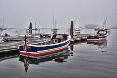 Boats in fog, Rye NY