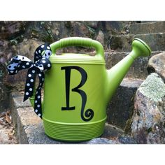 I bought this watering can from Walmart and added the vinyl initial and now for a cute teacher's gift.