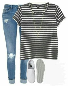 Simple casual outfits, simple school outfits, cute outfits for girls, spring school outfits Cute Outfits For School, Trendy Outfits, Fall Outfits, Summer Outfits, Simple College Outfits, Cute Everyday Outfits, Look Fashion, Teen Fashion, Fashion Outfits