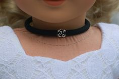 Doll Accessories FLOWER Charm CHOKER NECKLACE in by Closet4Chloe
