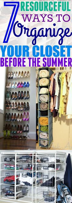 If your closet looks like a complete disaster, then you need to try these 7 closet organizing hacks TODAY!