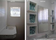 antes e depois - Nichos banheiro