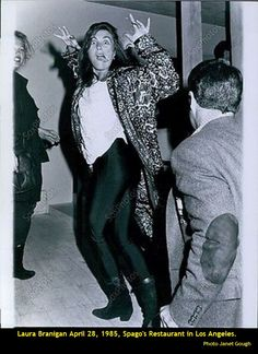 Laura Branigan April 1985, visiting Spago's Restaurant, Los Angeles.