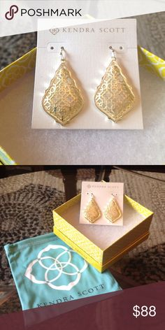 """NEW! KENDRA SCOTT GOLD """"ADDIE"""" EARRINGS BRAND NEW! KENDRA SCOTT GOLD """"ADDIE"""" EARRINGS-COMES WITH ALL OF THe ORIGINAL PACKAGING!! NEVER WORN-EXCELLENT NEW CONDITION!! Kendra Scott Jewelry Earrings"""