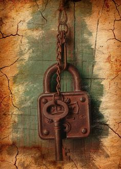 Expressive imitation of a pencil drawing on old parchment Rusty Door Lock and Keys. Inspired by the streets of Paris and Rome History Museum Door Knocker Door Lock Keys Locks Parchment Antiques Rarity Doors Ring