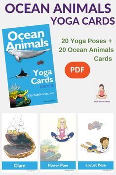 Learn About Ocean Animals Through Basic Yoga Poses Pretend To Be A Sea Urchin Turtle And Star Instantly Download These Fun Active Cards For