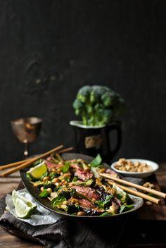 Coconut Flank, Broccoli, Basil and Peanut Salad