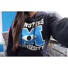 Monster University Grey Hoody - Fresh-tops.com