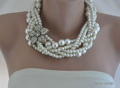 Hey, I found this really awesome Etsy listing at https://www.etsy.com/listing/168685160/bold-ivory-glass-pearl-necklace-with